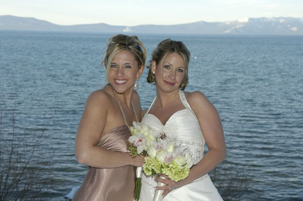 Maid of honor poses with the bride