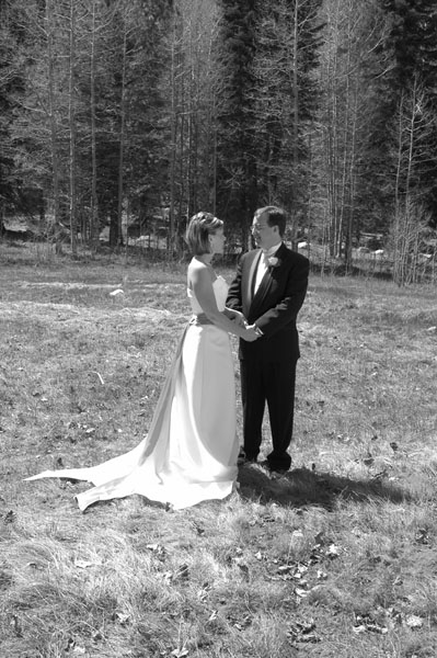 A wedding in the wilderness in Lake Tahoe