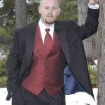 The groom poses for a photo prior to the ceremony
