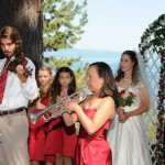 Music is played for the married couple