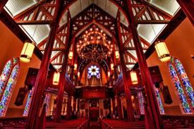 The beautiful church interior