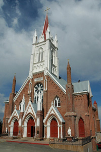 The church as viewed from the street