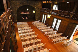The wedding area as seen from the balcony