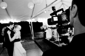 The first dance being videotaped