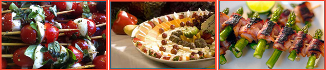 A display of appetizer selections