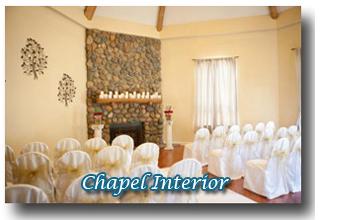 Interior look at chapel