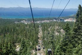 The gondola ride up the mountain