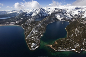 Emerald Bay as seen from the air