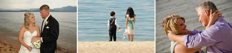 Various scenes along the beachfront of Lake Tahoe