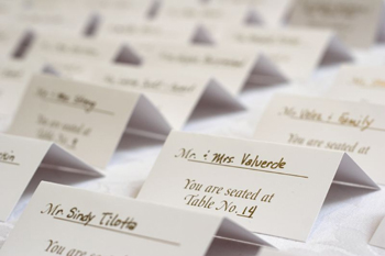 The guest invitations